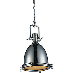 Show 14 inch 1 Light Mini Pendant with Chrome Finish