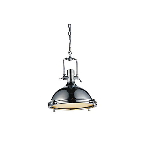 Show 16 inch 1 Light Chandelier with Chrome Finish