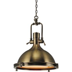 CWI Lighting Show 16 inch 1 Light Chandelier with Antique Bronze Finish