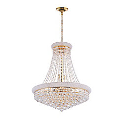 Empire 28 inch 18 Light Chandelier with Gold Finish