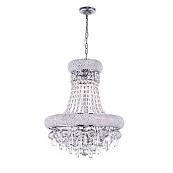 Kingdom 16 inch 6 Light Chandelier with Chrome Finish