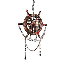 Manor 22 inch 2 Light Chandelier with Speckled copper Finish