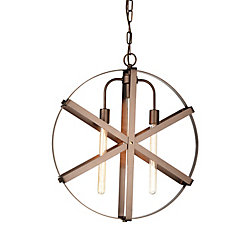 Tessa 23 inch 3 Light Chandelier with Antique Gold Finish