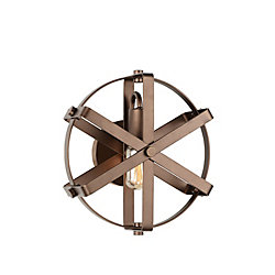 Tessa 11 inch 1 Light Wall Sconce with Antique Gold Finish