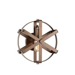 CWI Lighting Tessa 11 inch 1 Light Wall Sconce with Antique Gold Finish