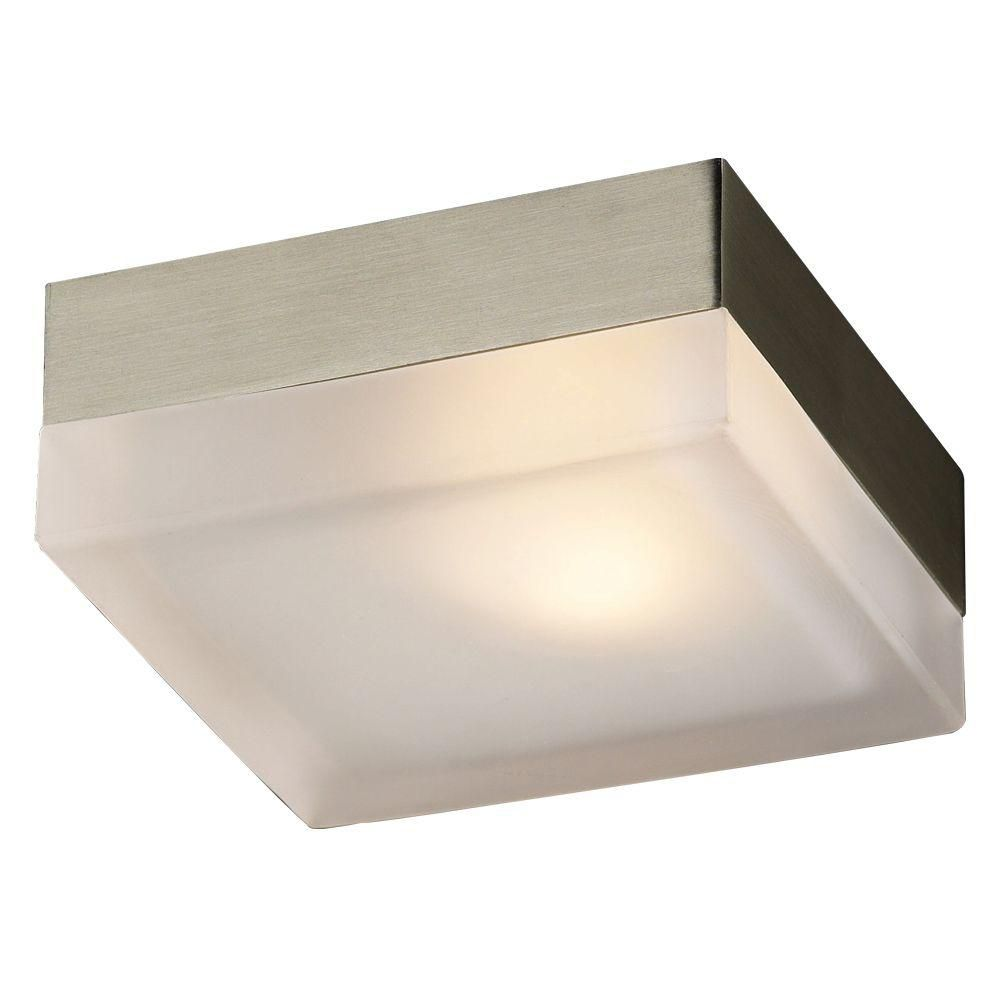 CWI Lighting Avoca 5 inch 1 Light Flush Mount with Satin Nickel Finish