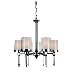 Maybelle 22 inch 6 Light Chandelier with Chrome Finish