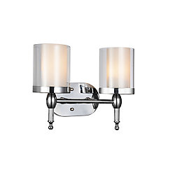 Maybelle 6 inch 2 Light Wall Sconce with Chrome Finish