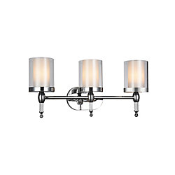 Maybelle 6 inch 3 Light Wall Sconce with Chrome Finish