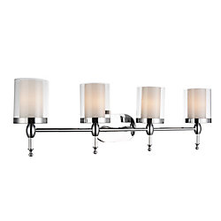 Maybelle 6 inch 4 Light Wall Sconce with Chrome Finish
