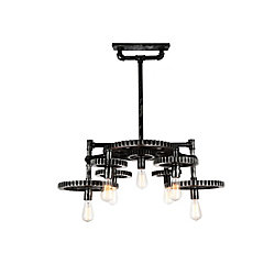 CWI Lighting Oder 23 inch 7 Light Chandelier with Silver Gray Finish