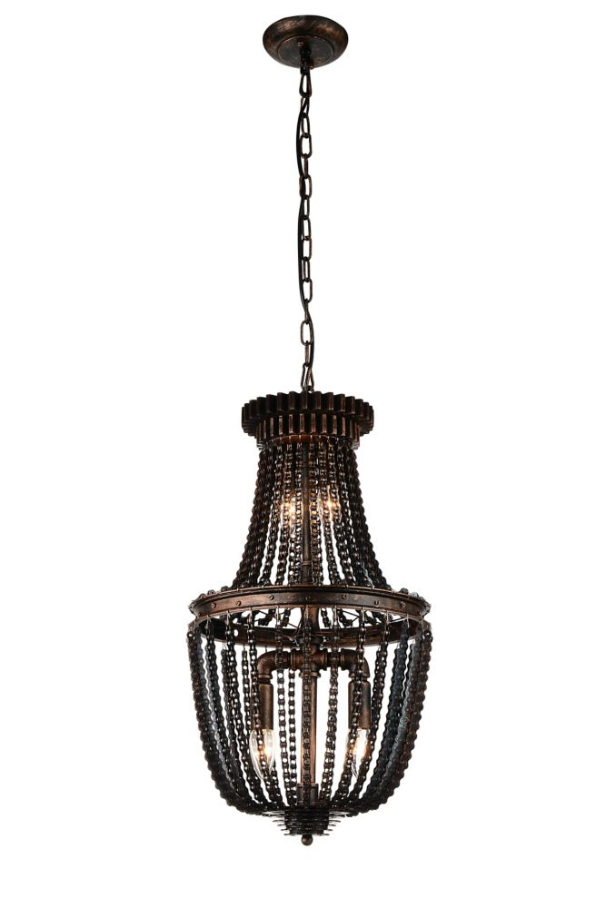 CWI Lighting Kala 13 inch 4 Light Mini Pendant with Antique Bronze Finish