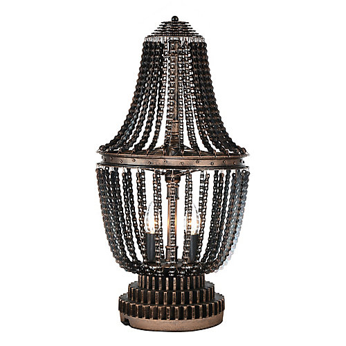 Kala 13 inch 2 Light Table Lamp with Antique Bronze Finish