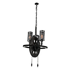 Manchi 20 inch 2 Light Chandelier with Gray Finish