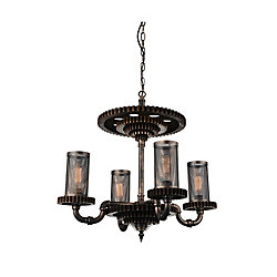 Manchi 30 inch 4 Light Chandelier with Rust Finish