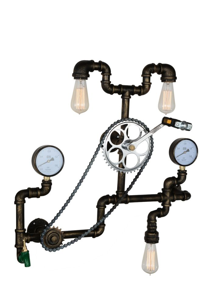 CWI Lighting Bici 9 inch 3 Light Wall Sconce with Blackened Bronze Finish