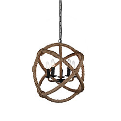 Padma 21 inch 5 Light Chandelier with Black Finish