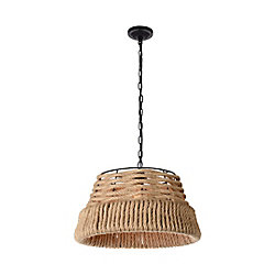 Padma 15-inch 1-Light Chandelier with Black Finish