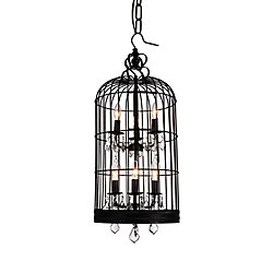Vortex 14 inch 6 Light Mini Pendant with Black Finish