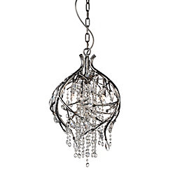 Mackay 14 inch 3 Light Mini Pendant with Speckled Nickel Finish