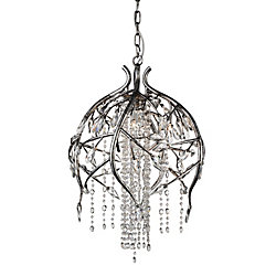 Mackay 19 inch 6 Light Chandelier with Speckled Nickel Finish