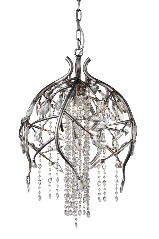 CWI Lighting Mackay 19 inch 6 Light Chandelier with Speckled Nickel Finish