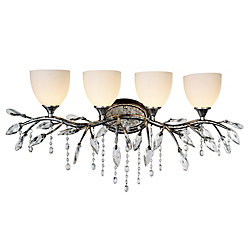Mackay 7 inch 4 Light Wall Sconce with Speckled Nickel Finish