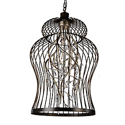 Molus 22 inch 12 Light Chandelier with Antique Gold Finish