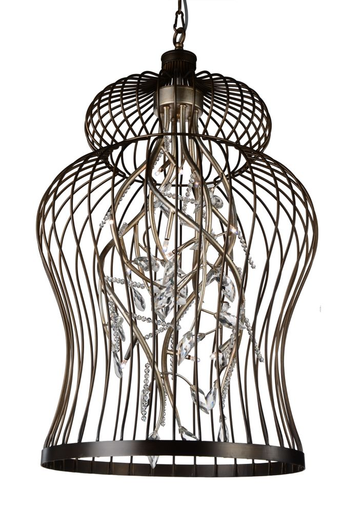CWI Lighting Molus 22 inch 12 Light Chandelier with Antique Gold Finish