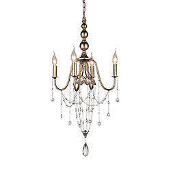Pembina 17 inch 4 Light Chandelier with Speckled Nickel Finish