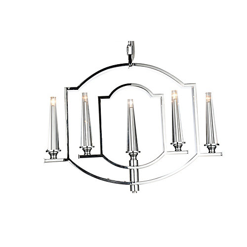 Calhoun 24 inch 5 Light Chandelier with Chrome Finish