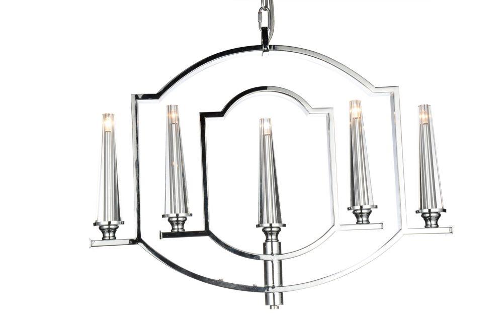 CWI Lighting Calhoun 24 inch 5 Light Chandelier with Chrome Finish