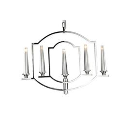 CWI Lighting Calhoun 24 inch 5 Light Chandelier with Chrome Finish