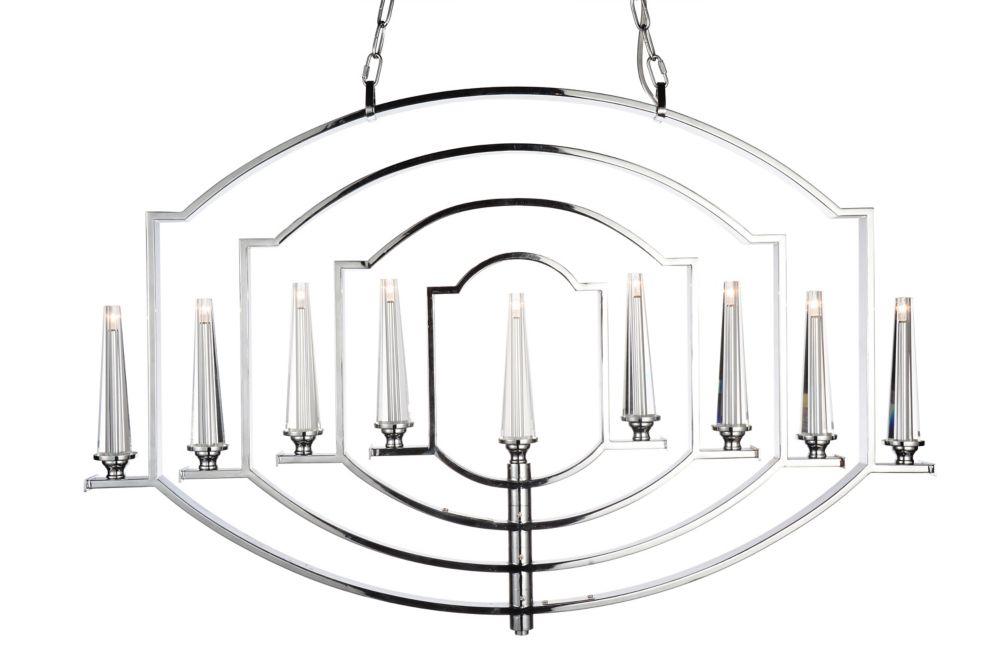 CWI Lighting Calhoun 2 inch 9 Light Chandelier with Chrome Finish