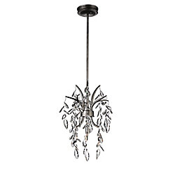 Napan 11 inch 1 Light Mini Pendant with Silver Mist Finish