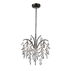 Napan 17 inch 3 Light Chandelier with Silver Mist Finish