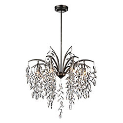 Napan 25 inch 8 Light Chandelier with Silver Mist Finish