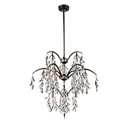 Napan 28 inch 12 Light Chandelier with Silver Mist Finish