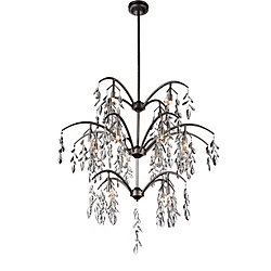 Napan 36 inch 16 Light Chandelier with Silver Mist Finish