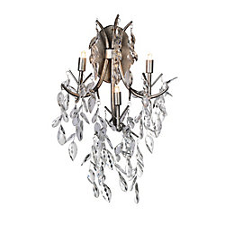 Napan 9 inch 3 Light Wall Sconce with Silver Mist Finish