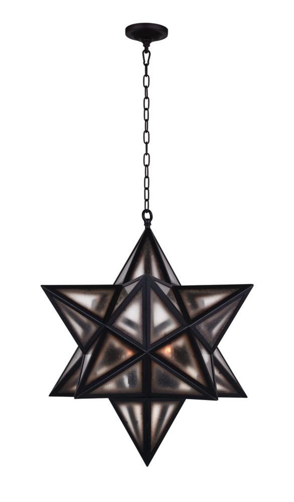 CWI Lighting Astoria 20 inch 3 Light Chandelier with Black Finish