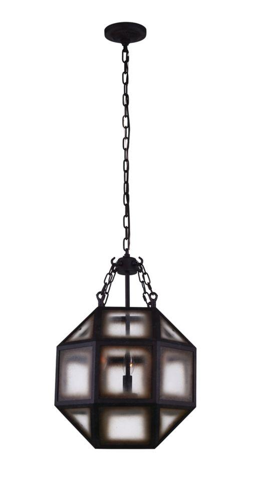 CWI Lighting Dvina 14 inch 3 Light Mini Pendant with Rust Finish