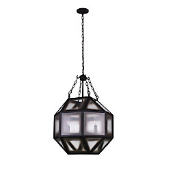 Dvina 19 inch 4 Light Chandelier with Rust Finish