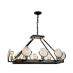 Bhima 15 inch 8 Light Chandelier with Brown Finish