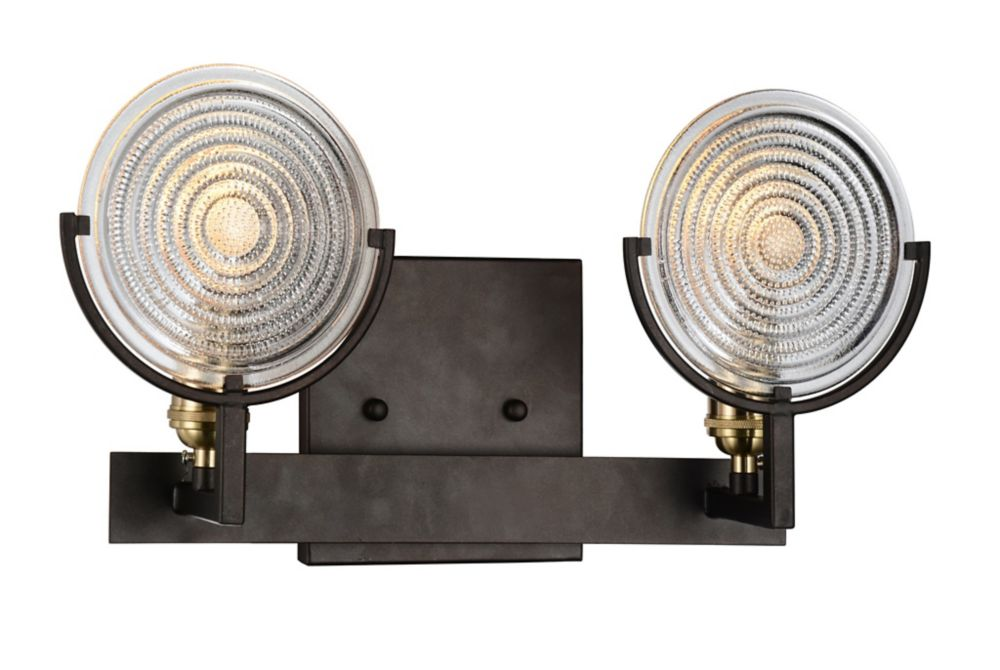 CWI Lighting Bhima 5 inch 2 Light Wall Sconce with Brown Finish