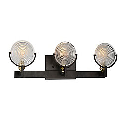 Bhima 5 inch 3 Light Wall Sconce with Brown Finish