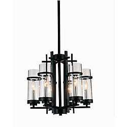 Sierra 18 inch 6 Light Chandelier with Black Finish