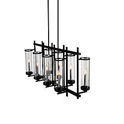 Sierra 38 inch 8 Light Chandelier with Black Finish