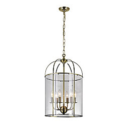 CWI Lighting Kalu 15 inch 6 Light Chandelier with Antique Bronze Finish