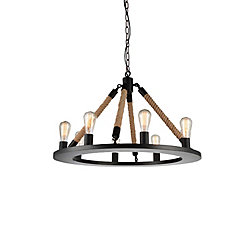 Ganges 32 inch 8 Light Chandelier with Black Finish